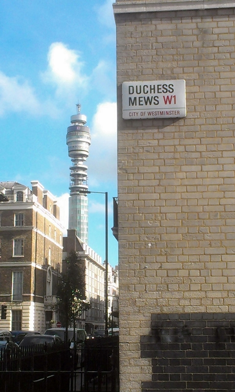 Duchess Mews towards BT
