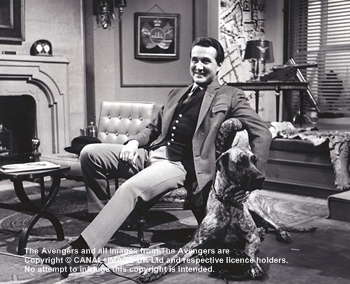 The Golden Fleece set - Macnee with Junia on set